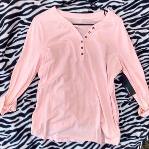 Relativity Pick partial button down top NWT